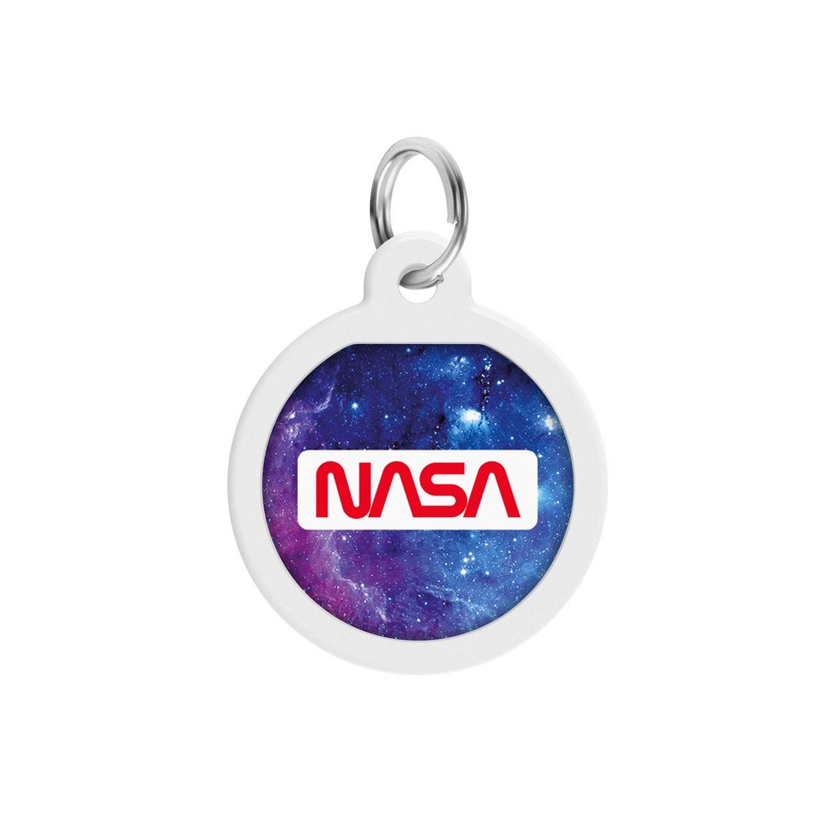 "Адресник WAUDOG Smart ID з QR паспортом, преміум, малюнок ""NASA21"", кістка"