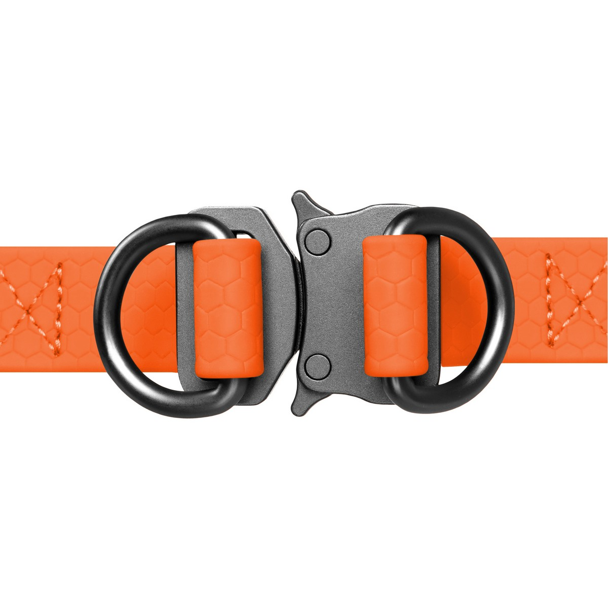 Шлея для собак WAUDOG Waterproof, металева пряжка-фастекс, помаранчевий